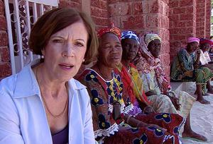 Sue Lloyd-Roberts out in the field reporting for Newsnight