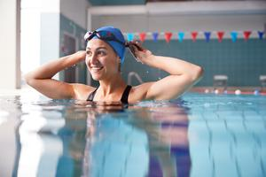 Healthy habit: swimming is a great form of exercise