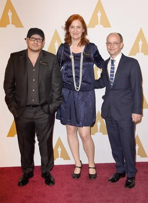 Room's director Lenny Abrahamson, screenwriter Emma Donoghue and producer Ed Guiney