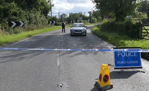 Police at the scene of the explosion near Wattle Bridge in Co Fermanagh in August 2019.