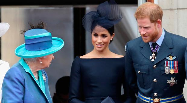 All change: the Queen is said to be not best pleased with Harry and Meghan's decision