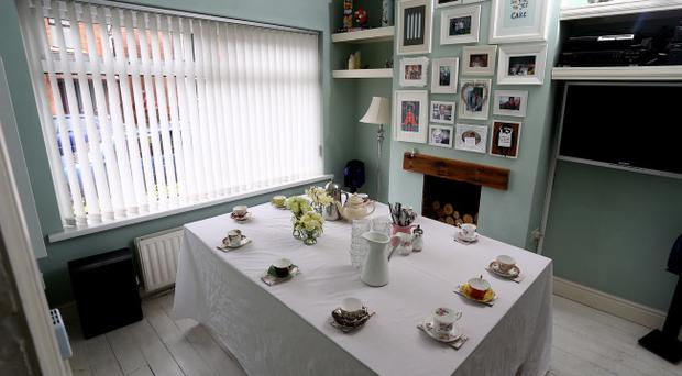 The dining table at the Little Pink Kitchen