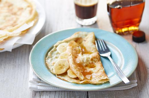 Tasty treat: gluten-free pancakes make an ideal base for fresh fruit