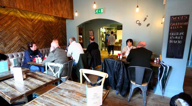 Village people: The Botanic Avenue lunchtime hotspot is usually buzzing