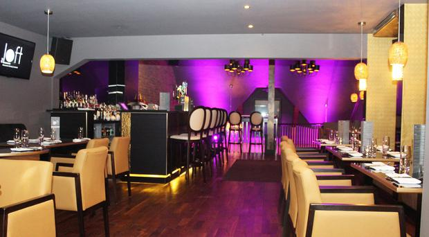 The Loft is a bling-tastic venue with a solid menu