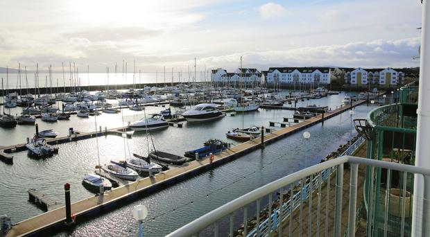 Emergency services attended Carrickfergus Marina on Sunday.