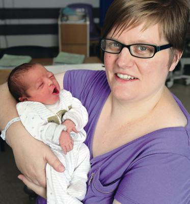 Julianne Liken,from Larne in Co Antrim,with daughter Lily Jane Cherlene,born weighing 7Lb 8oz,at Antrim Area Hospital.