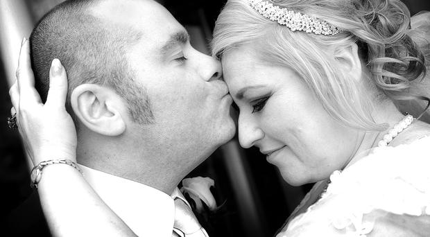 Just married: Jeff and Janice Johnston