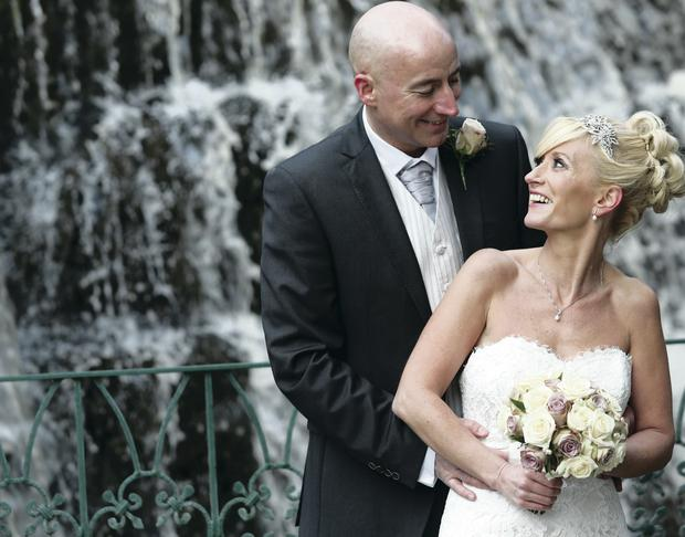 Barry and Pamela Hughes on their big day