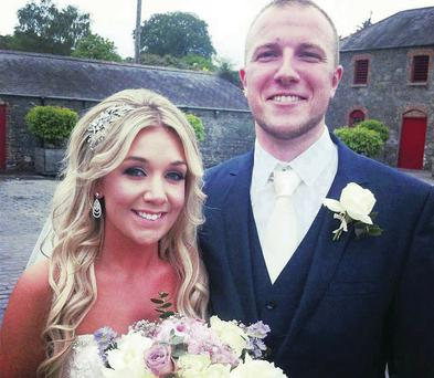 Jennifer McKnight and Jamie Mendez, who were married at the Larchfield Estate in Lisburn