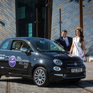 Anna Henry picks up the keys to her new Fiat 500.
