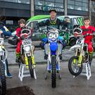 On your bike: Arenacross riders (from left) Drew McCreanor, Glenn McCormick, Robbie McCullough, Martin Barr, Cole McCullough and James Makrel