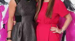 Deborah Kinder and Cathy Martin have fun at the Sunday Style lunch at West Coast Cooler Fashionweek
