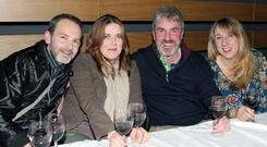 Wine buffs: from left, Niall and Anne-Marie Dynes from Dungannon and Dale and Helen Hanna from Greystone
