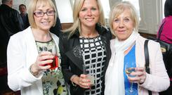 Shauna Broderick, Nan Short and Julie Ann Vaughan at the launch of the 2015 Northern Ireland Travel and Tourism Awards on board the SS Nomadic in Belfast's Titanic Quarter