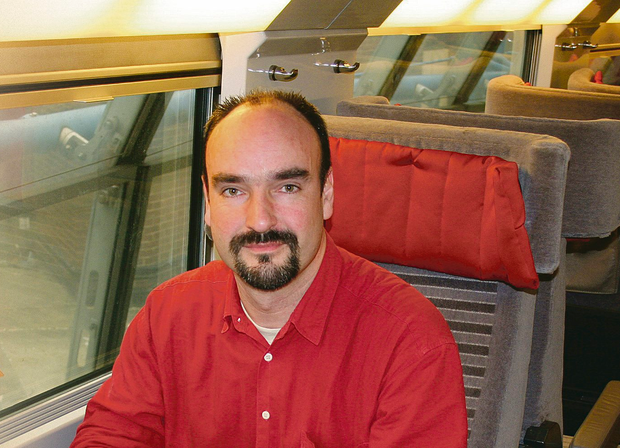 Sitting comfortably: Travel blogger Mark Smith in seat 61