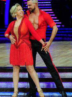 Deborah on Strictly with Robin Windsor on the show in 2013