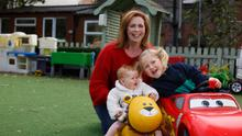 Yvonne Hogan with daughters Ava (5) and Eloise (9 months) McCarthy