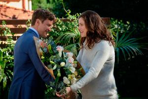 Jessica with Michael Dornan as Jack Shaughnessy