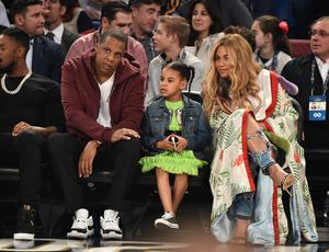 Jay Z, Blue Ivy Carter and Beyonce Knowles