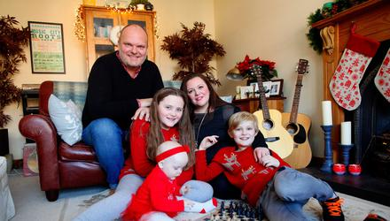 Kerry McLean with her husband Ralph and children Tara, Dan and Eve.