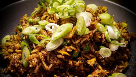 Fried rice is very much a dish in itself