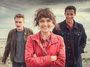 Rising stars: from left, actors Ben Hardy, Olivia Cooke and Daryl McCormack in new film Pixie