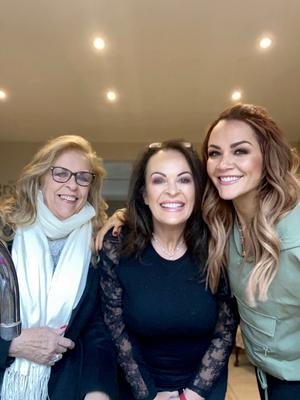 Grainne McCoy with mum Siobhan and grandmother Maria