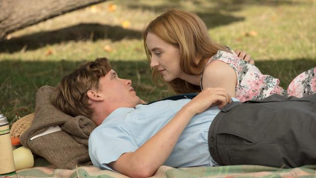 Saoirse Ronan with Billy Howle in On Chesil Beach