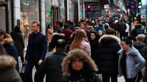 City and town centres are thronged with shoppers hunting for bargains