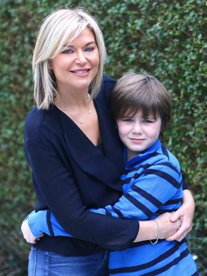 Tina with her son Paddy Jack