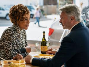 Sam Neill opposite Sophie Okonedo in Flack, which sees Neill reunite with The Piano co-star Anna Paquin
