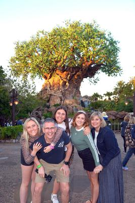 Mark Simpson with his wife Catherine and daughters Grace, Holly and Joy