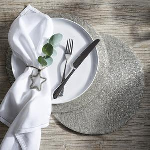 Round Beaded Placemats and Seville Napkins, The White Company