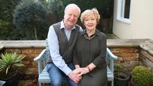 Former BBC presenter Seamus McKee at home in south Belfast with wife Brenda