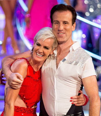 Judy Murray with Anton Du Beke on Strictly Come Dancing
