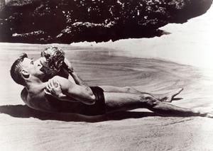 From Here To Eternity/Burt Lancaster and Deborah Kerr in the surf.