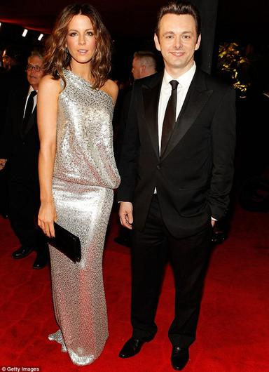 Past times: Kate with former partner Michael Sheen