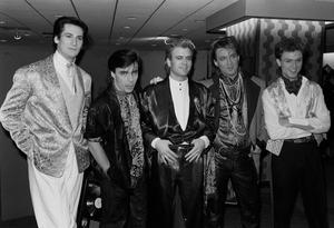 Martin Kemp (second from left) with Spandau Ballet in 1985