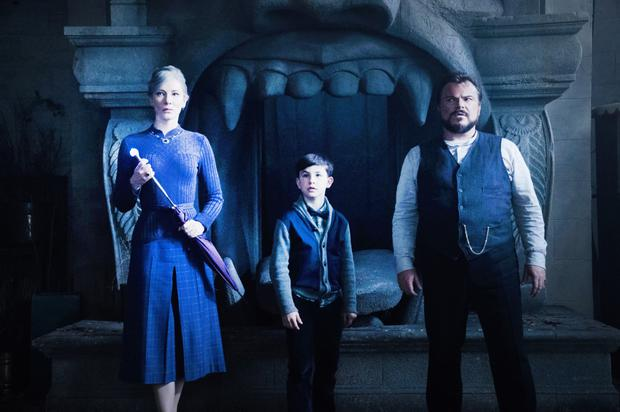Cate in  her latest movie The House With the Clock in its Walls with Jack Black and Owen Vaccaro
