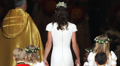 Princess Pippa Middleton at the wedding of her sister Kate