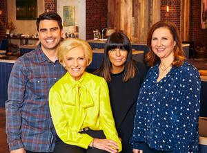 From left, Chris Bavin, Mary Berry, Claudia Winkleman and Angela Hartnett