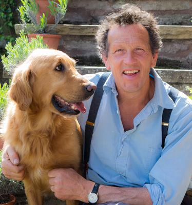 Monty Don and his dog, Nigel, who died in May.