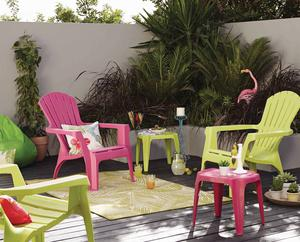 Tropical fan chair and table, Dunelm