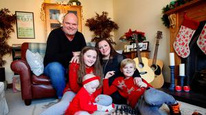 Kerry McLean with her husband Ralph and their children, Tara, Dan and Eve