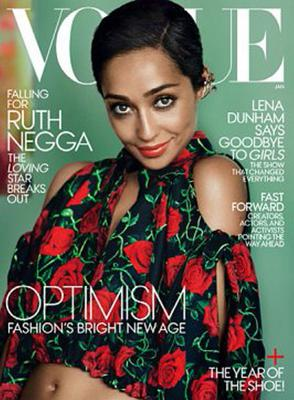 Fronting up: Ruth in US Vogue