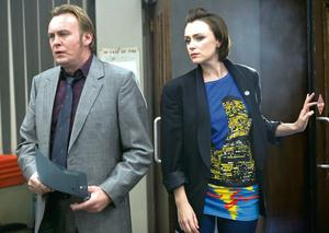 Arresting drama: Keeley with Phil Glenister in Ashes to Ashes