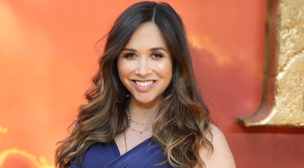 Myleene Klass when she was eight months pregnant with Apollo