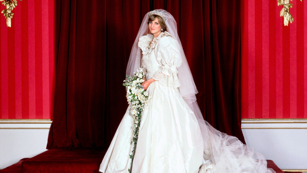 The Princess of Wales at Buckingham Palace after her wedding to Prince Charles
