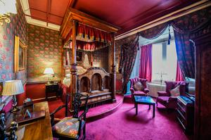 One of the bedrooms at Lumley Castle
